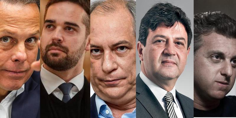 Atenção: Dória, Eduardo Leite, Ciro, Mandetta, Huck e Amoedo unidos contra Bolsonaro
