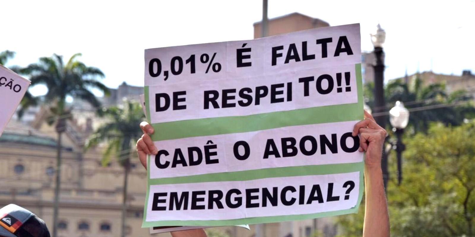 Servidores da Prefeitura de SP fazem manifestação pré-greve