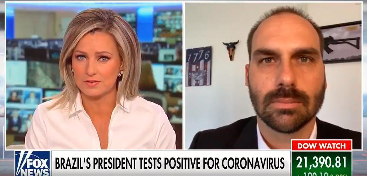 Bolsonaro desmente o filho e afirma que não tem coronavírus